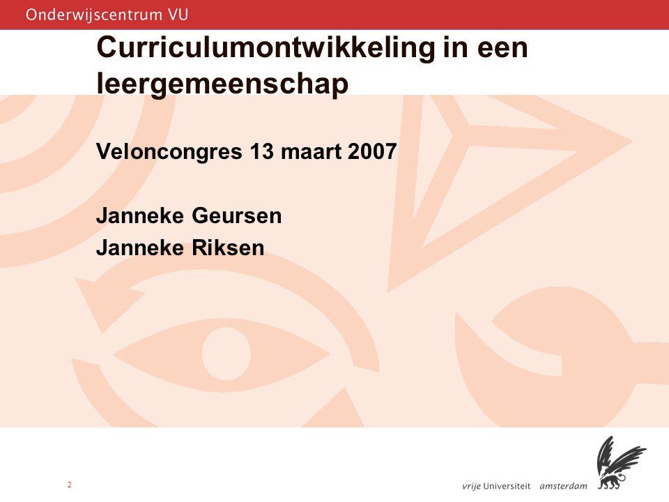 Curriculumontwikkeling in een leergemeenschap