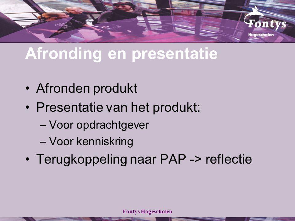 Afronding en presentatie