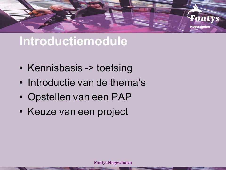 Introductiemodule Kennisbasis -> toetsing