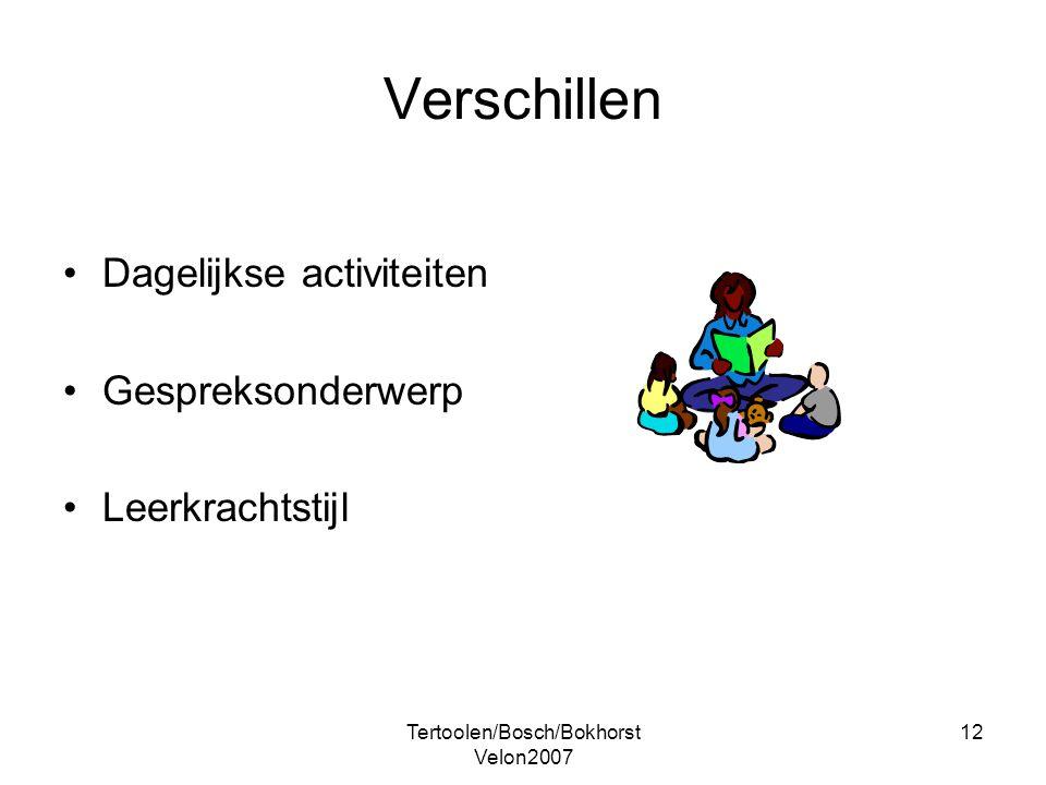 Tertoolen/Bosch/Bokhorst Velon2007