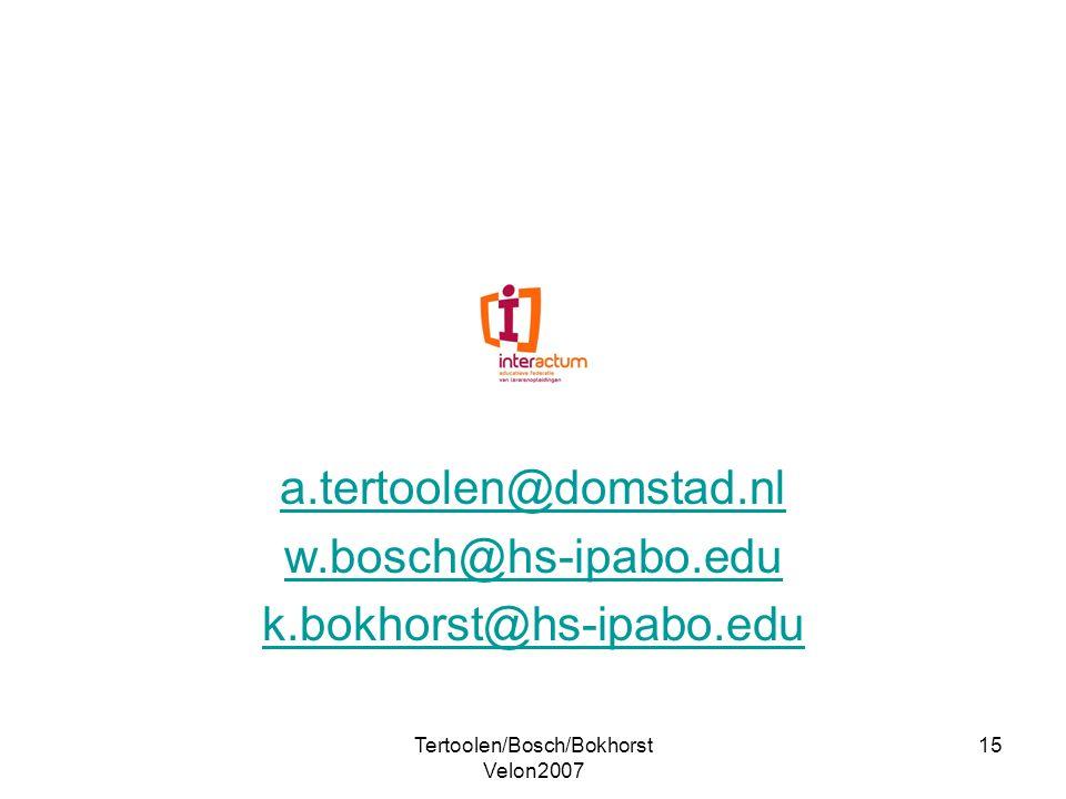 a.tertoolen@domstad.nl w.bosch@hs-ipabo.edu k.bokhorst@hs-ipabo.edu