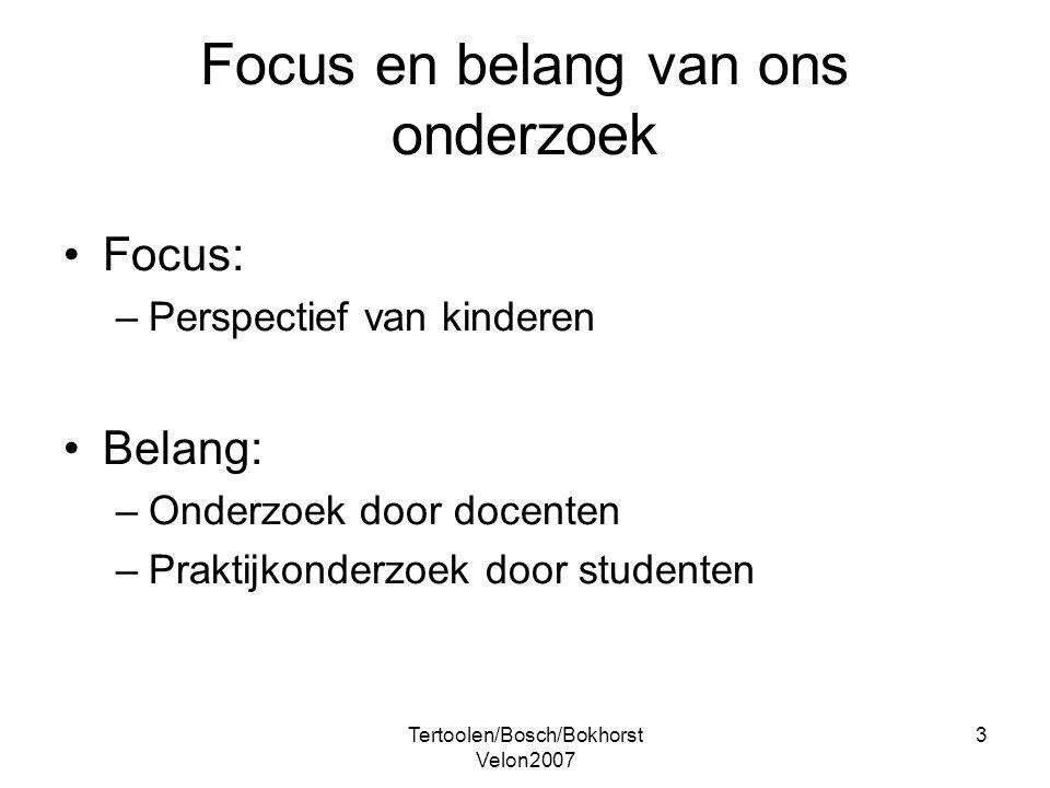 Focus en belang van ons onderzoek