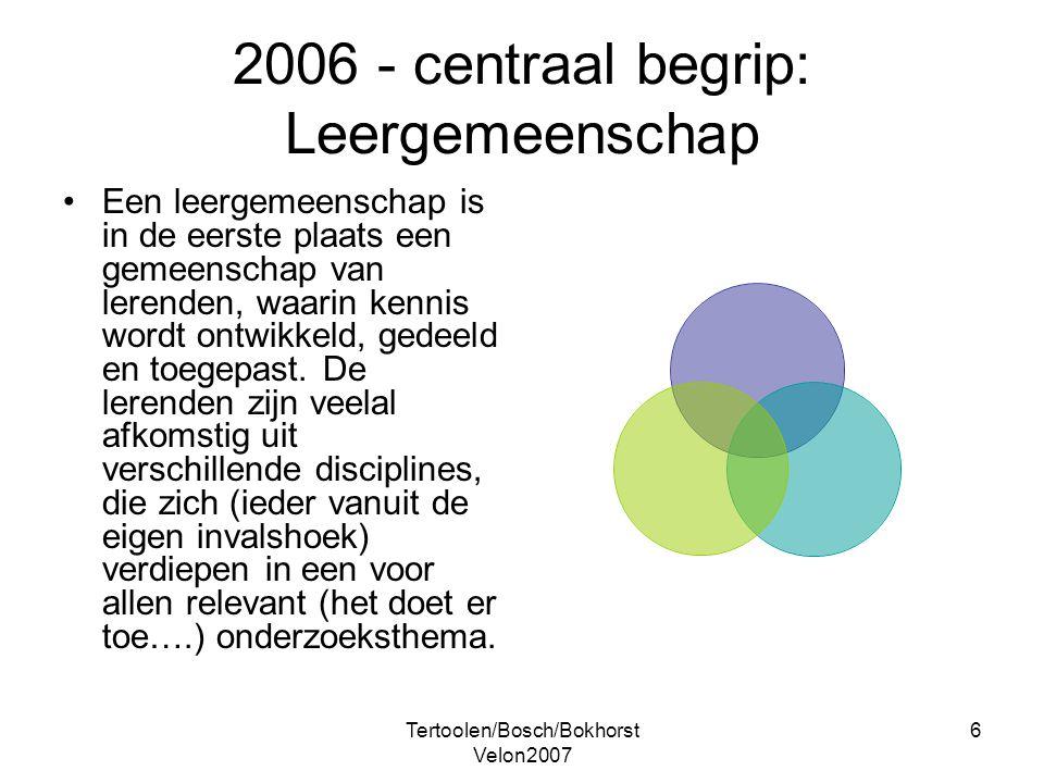 2006 - centraal begrip: Leergemeenschap