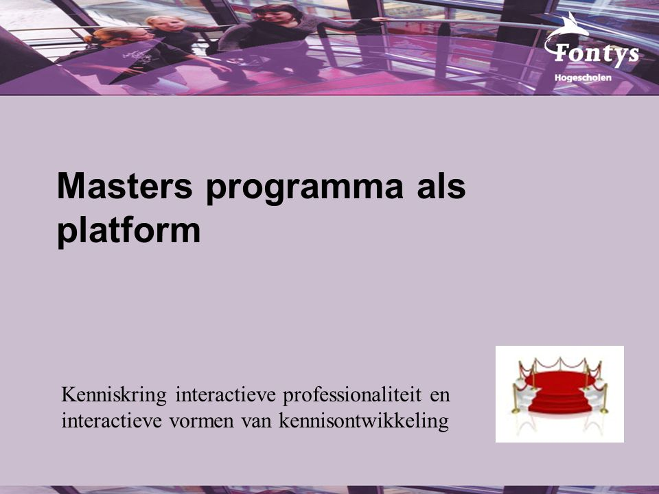 Masters programma als platform