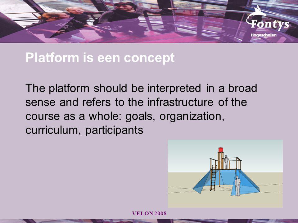 Platform is een concept