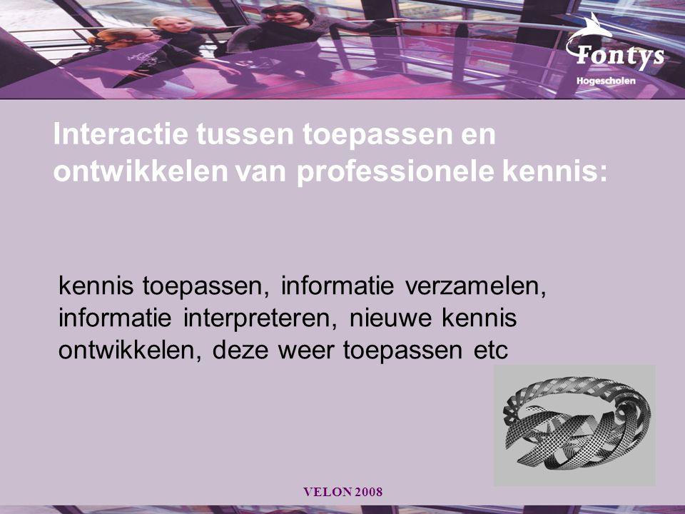 Interactie tussen toepassen en ontwikkelen van professionele kennis: