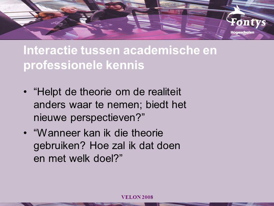 Interactie tussen academische en professionele kennis