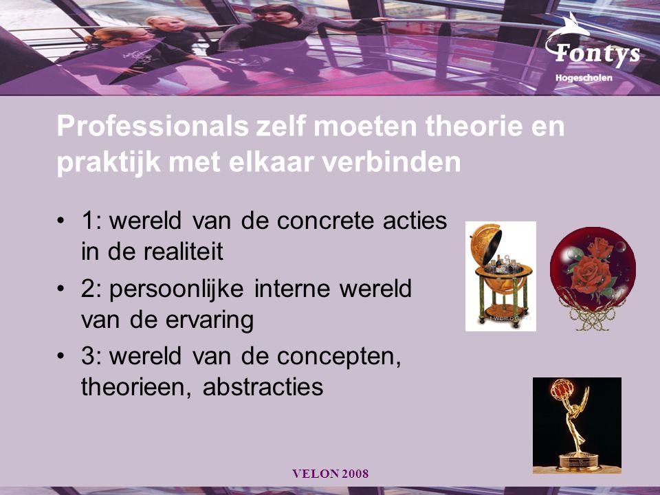 Professionals zelf moeten theorie en praktijk met elkaar verbinden