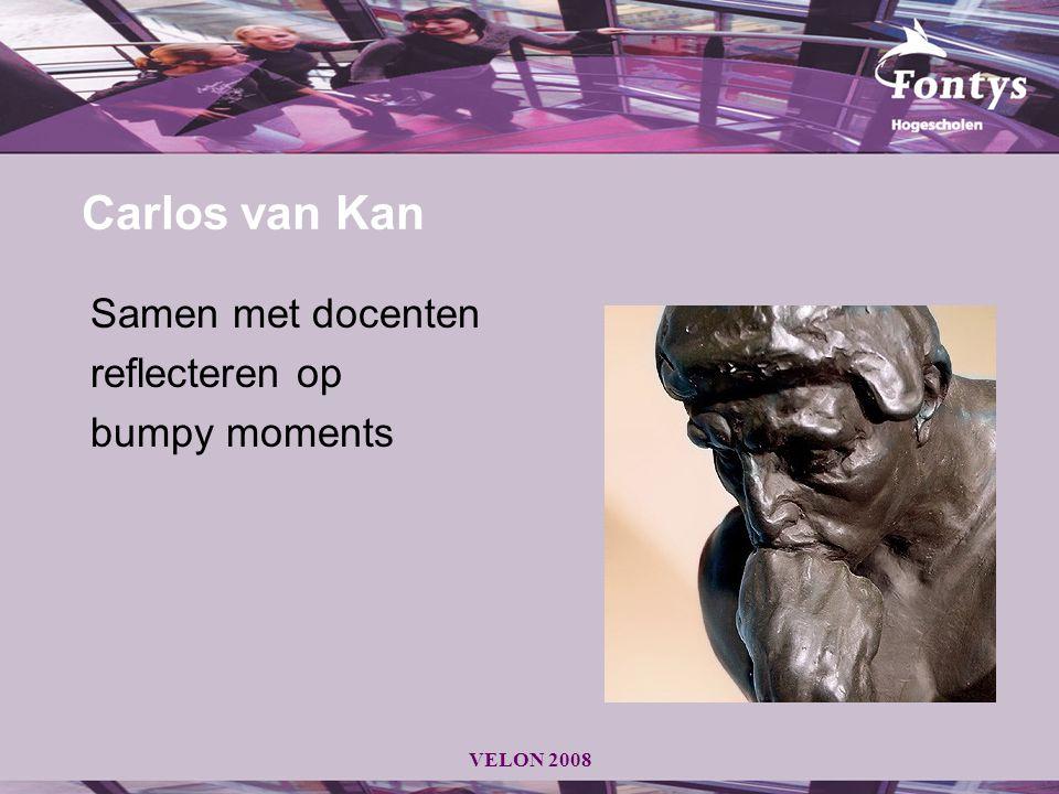 Carlos van Kan Samen met docenten reflecteren op bumpy moments