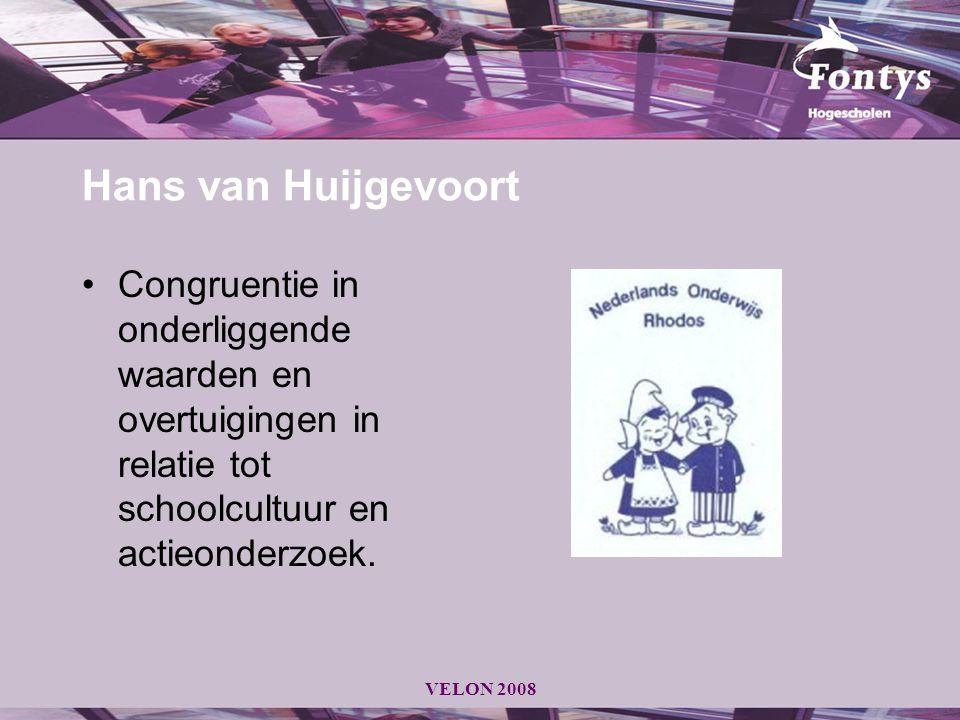 Hans van Huijgevoort Congruentie in onderliggende waarden en overtuigingen in relatie tot schoolcultuur en actieonderzoek.