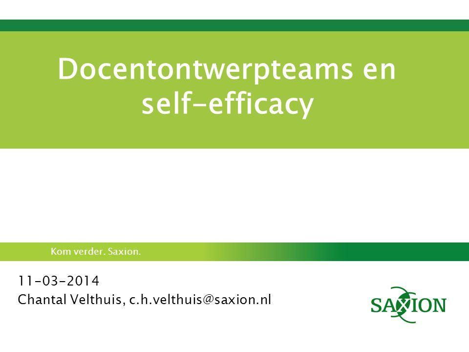 Docentontwerpteams en self-efficacy