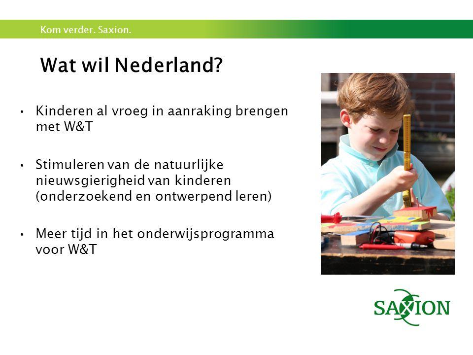 Wat wil Nederland Kinderen al vroeg in aanraking brengen met W&T