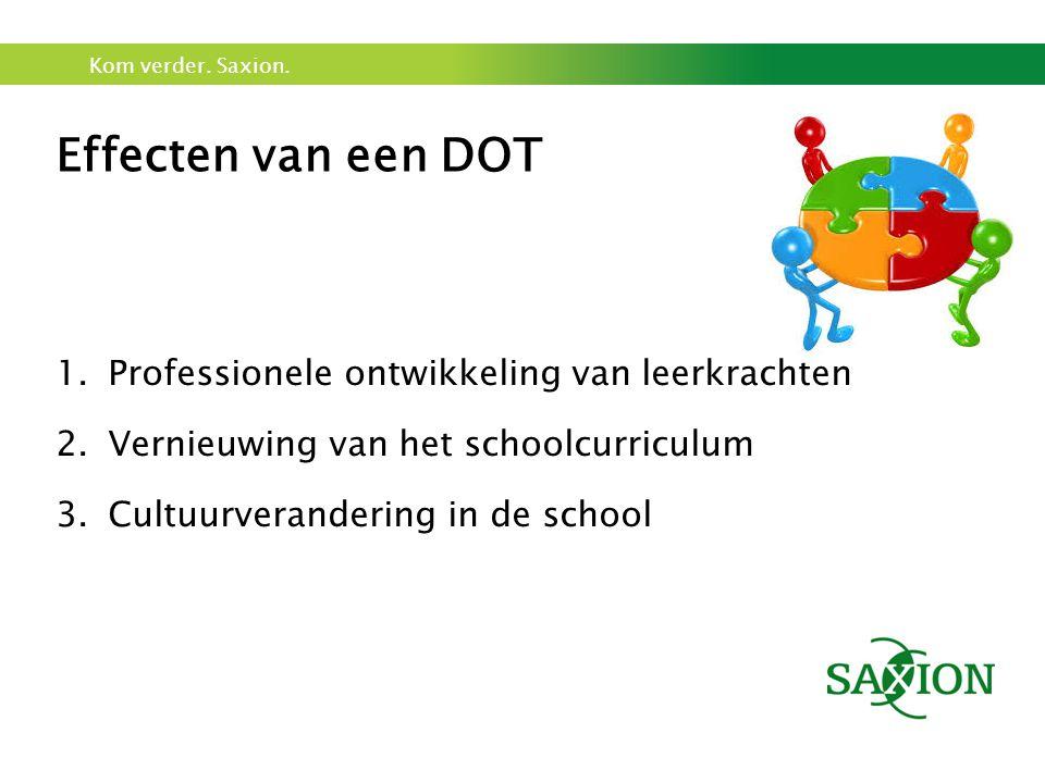 Effecten van een DOT Professionele ontwikkeling van leerkrachten