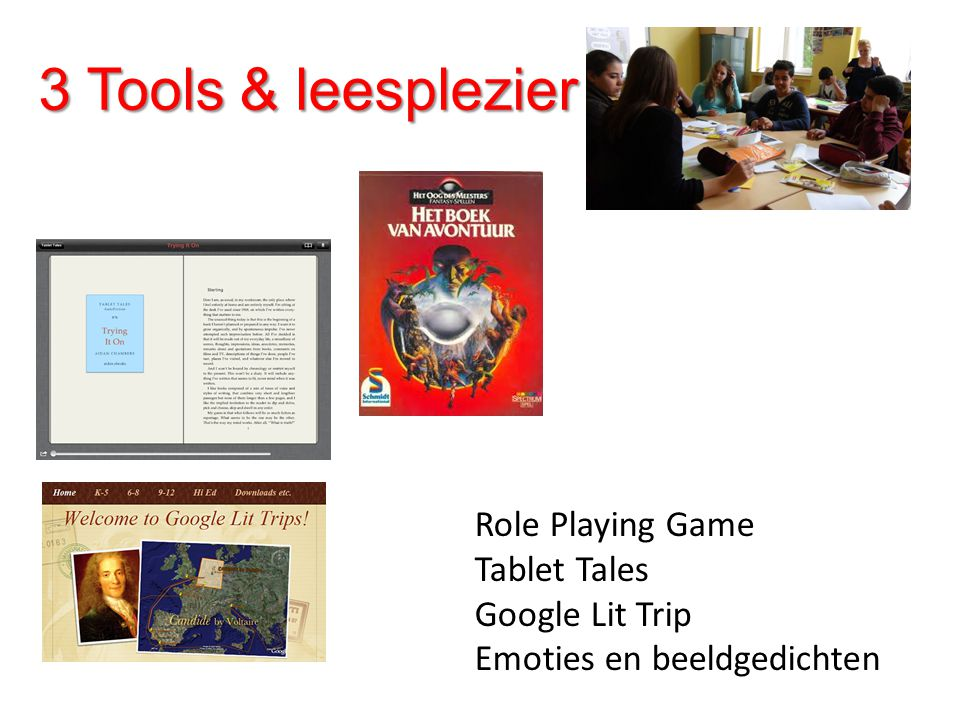 3 Tools & leesplezier Role Playing Game Tablet Tales Google Lit Trip