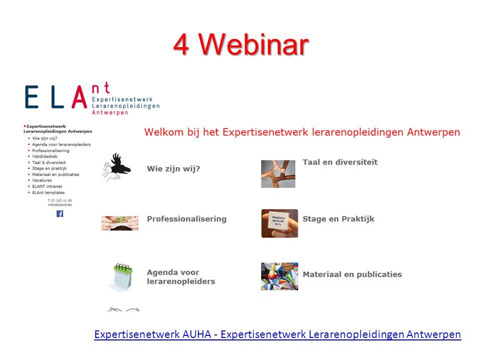 4 Webinar Via hyperlink naar webinar: professionalisering – leesplezier – stap 1 – stap 2.