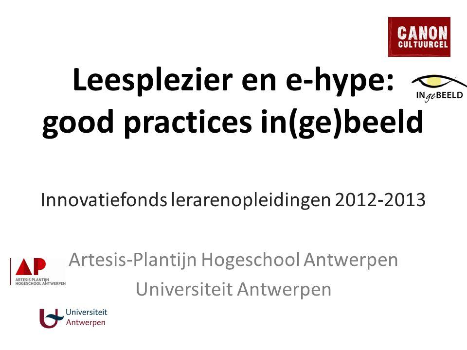 Leesplezier en e-hype: good practices in(ge)beeld