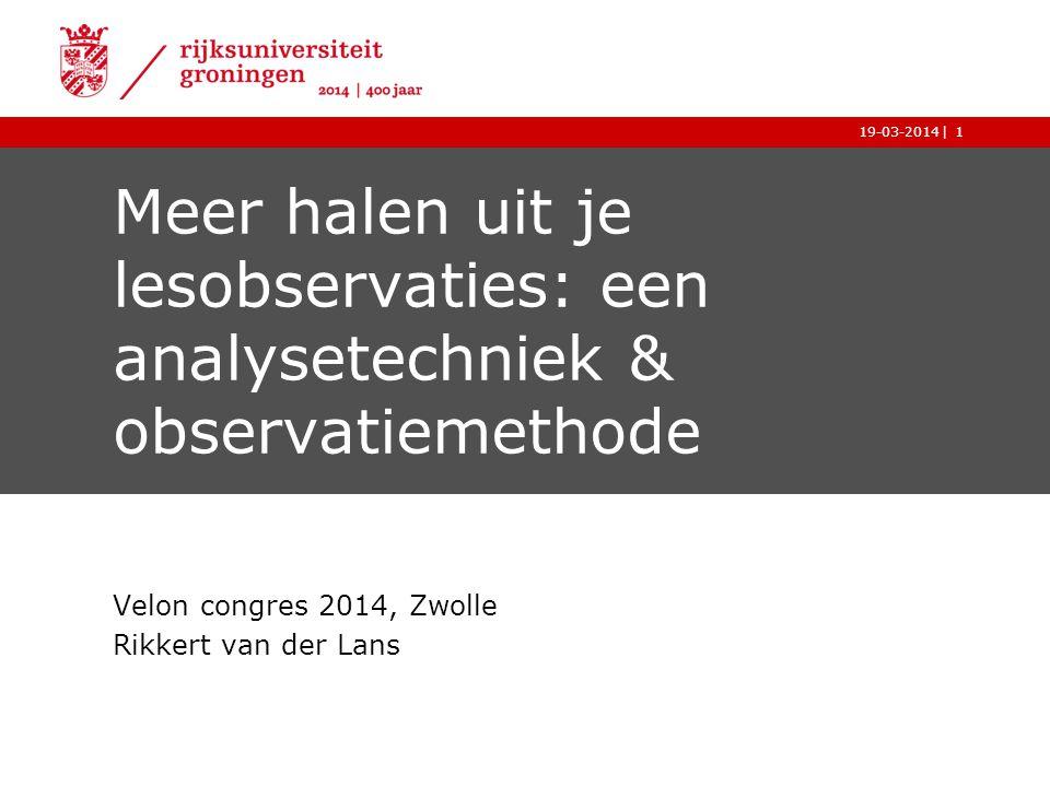 Velon congres 2014, Zwolle Rikkert van der Lans