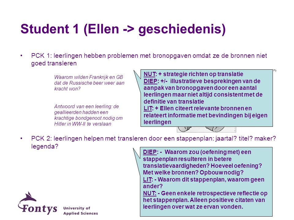 Student 1 (Ellen -> geschiedenis)