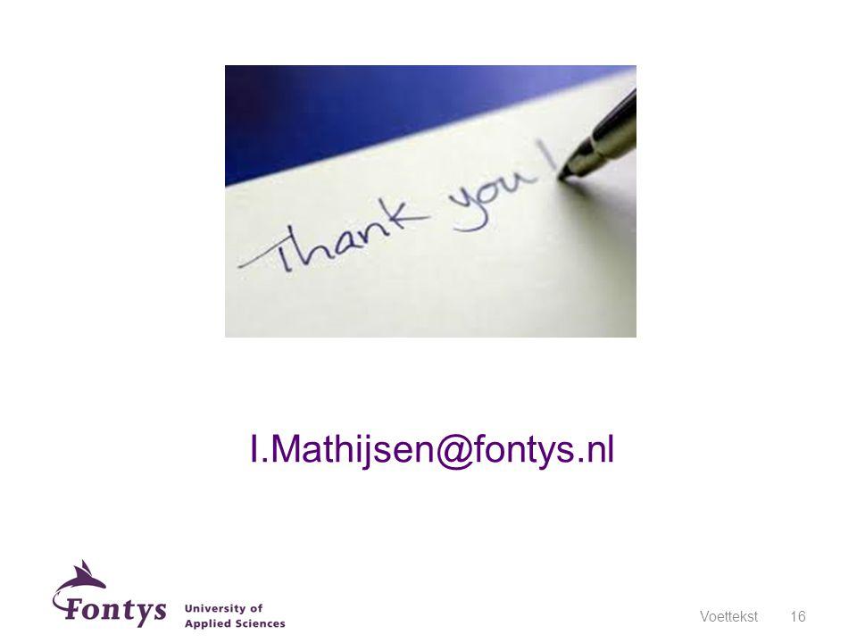 I.Mathijsen@fontys.nl Voettekst