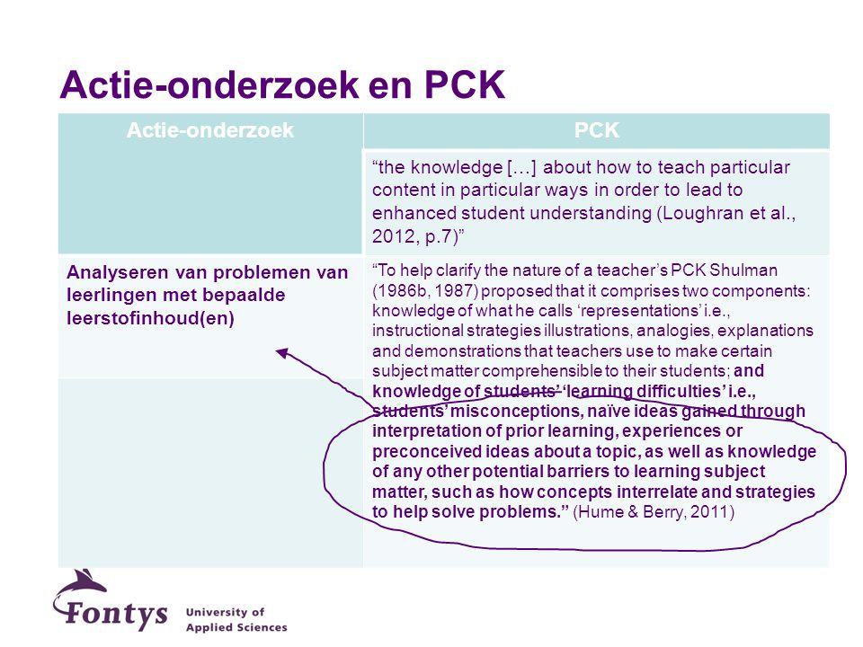 Actie-onderzoek en PCK