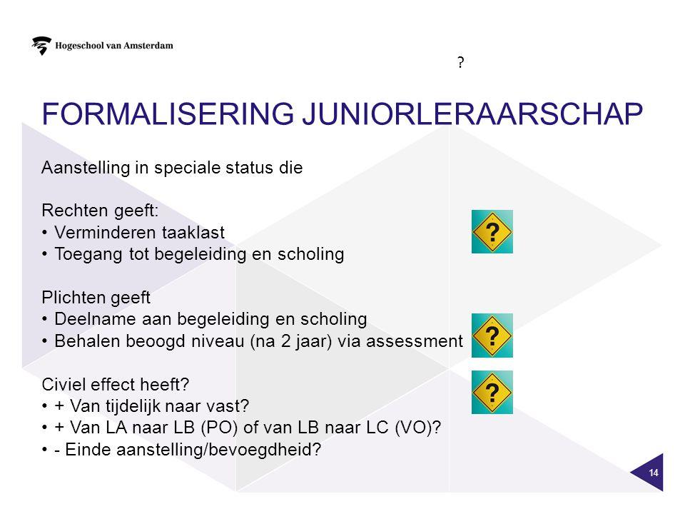 Formalisering juniorleraarschap