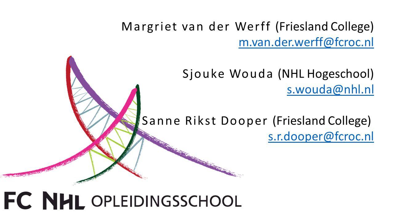 Margriet van der Werff (Friesland College)