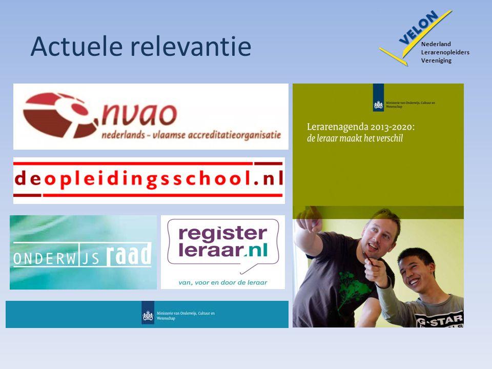 Actuele relevantie Nederland. Lerarenopleiders. Vereniging.