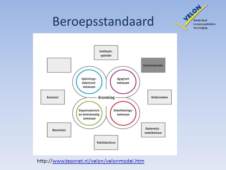 Beroepsstandaard http://www.tesonet.nl/velon/velonmodel.htm