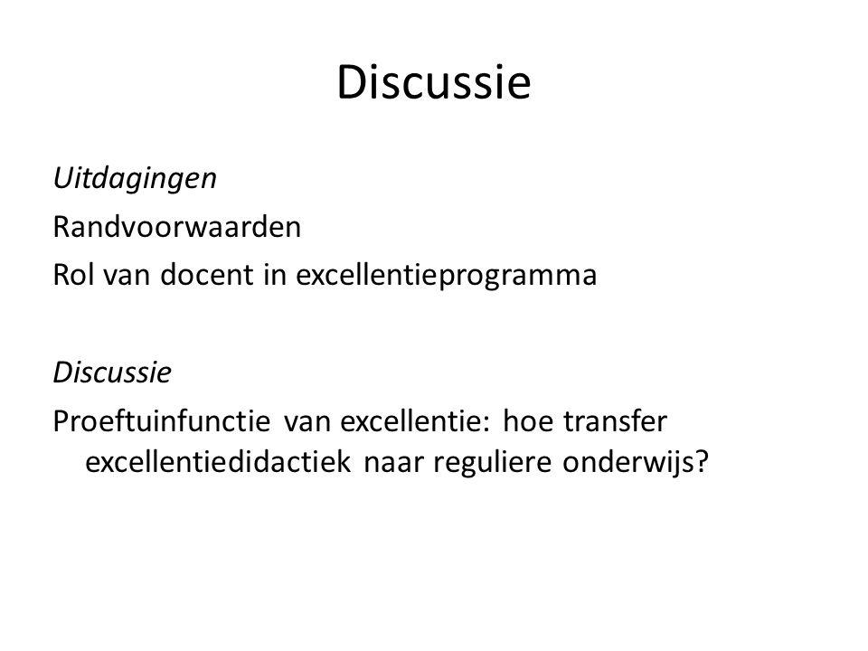 Discussie Uitdagingen Randvoorwaarden