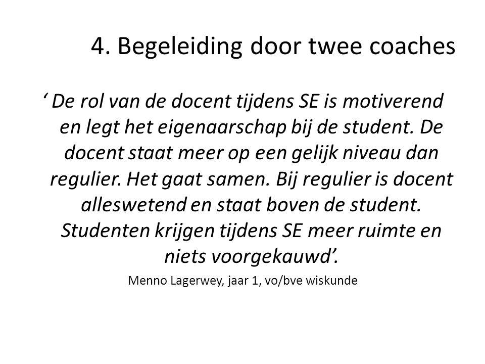 4. Begeleiding door twee coaches
