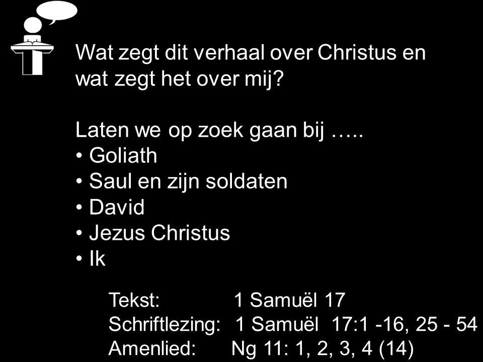 Wat zegt dit verhaal over Christus en wat zegt het over mij