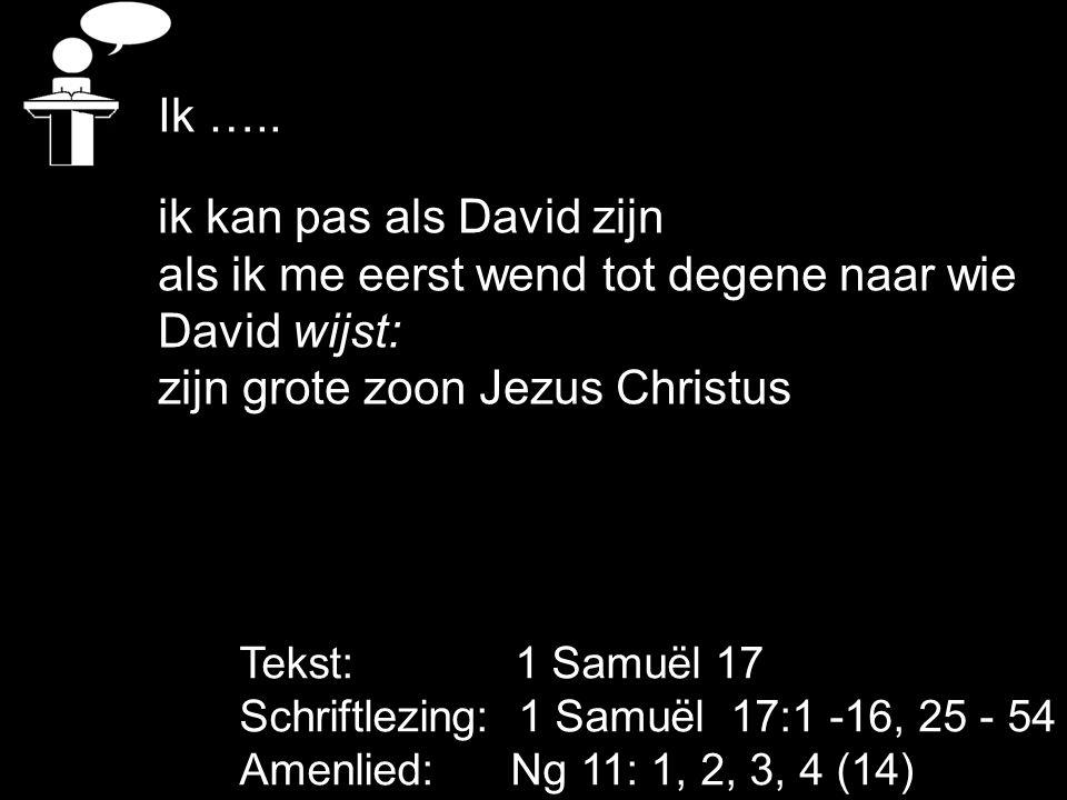 ik kan pas als David zijn als ik me eerst wend tot degene naar wie