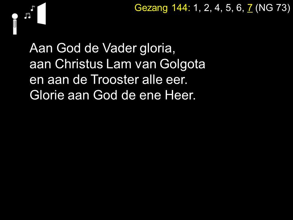 aan Christus Lam van Golgota en aan de Trooster alle eer.