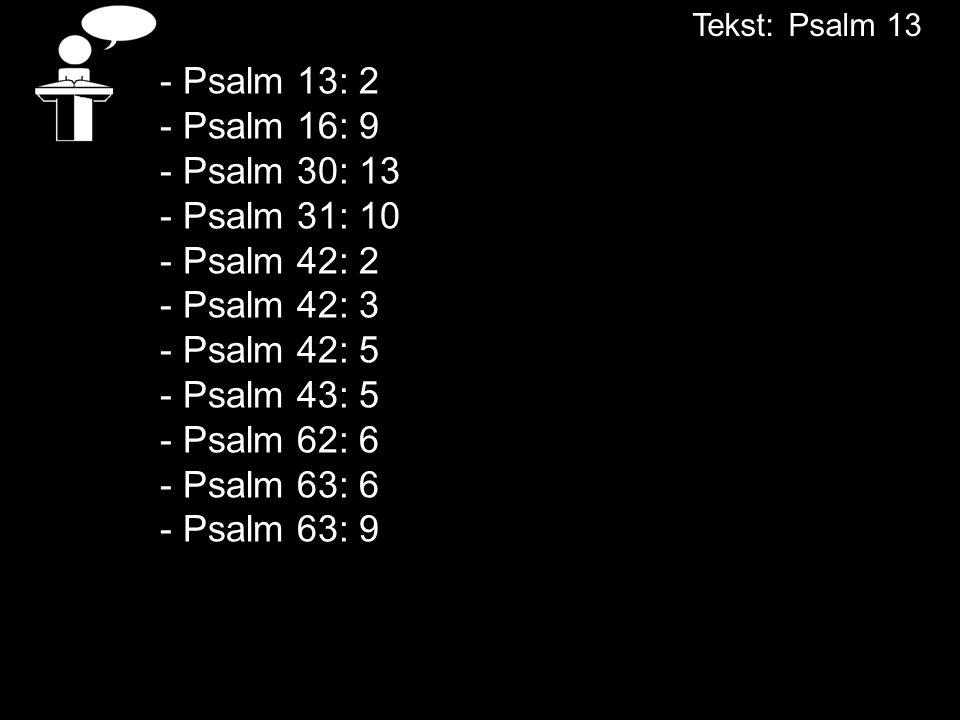 Tekst: Psalm 13
