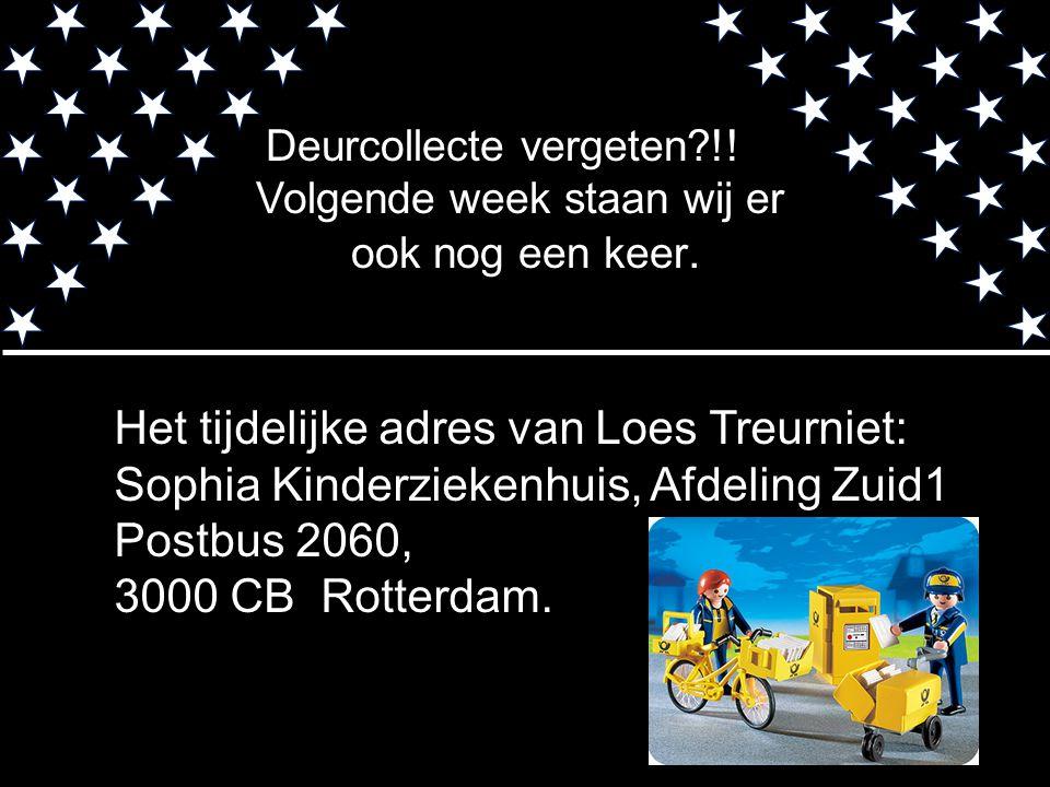 Het tijdelijke adres van Loes Treurniet: