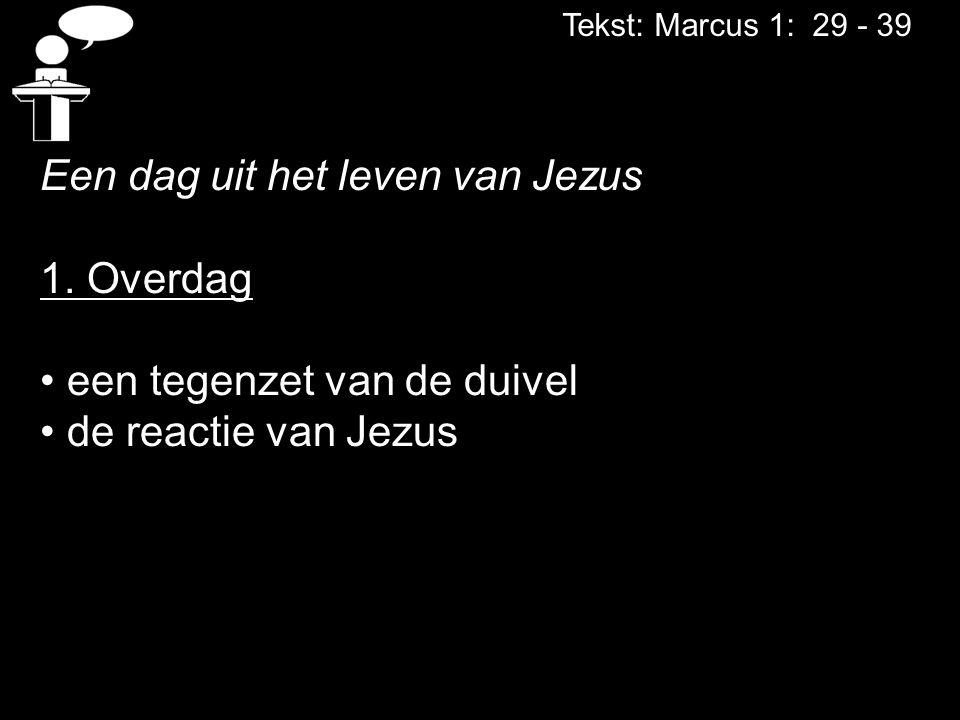 Een dag uit het leven van Jezus 1. Overdag een tegenzet van de duivel