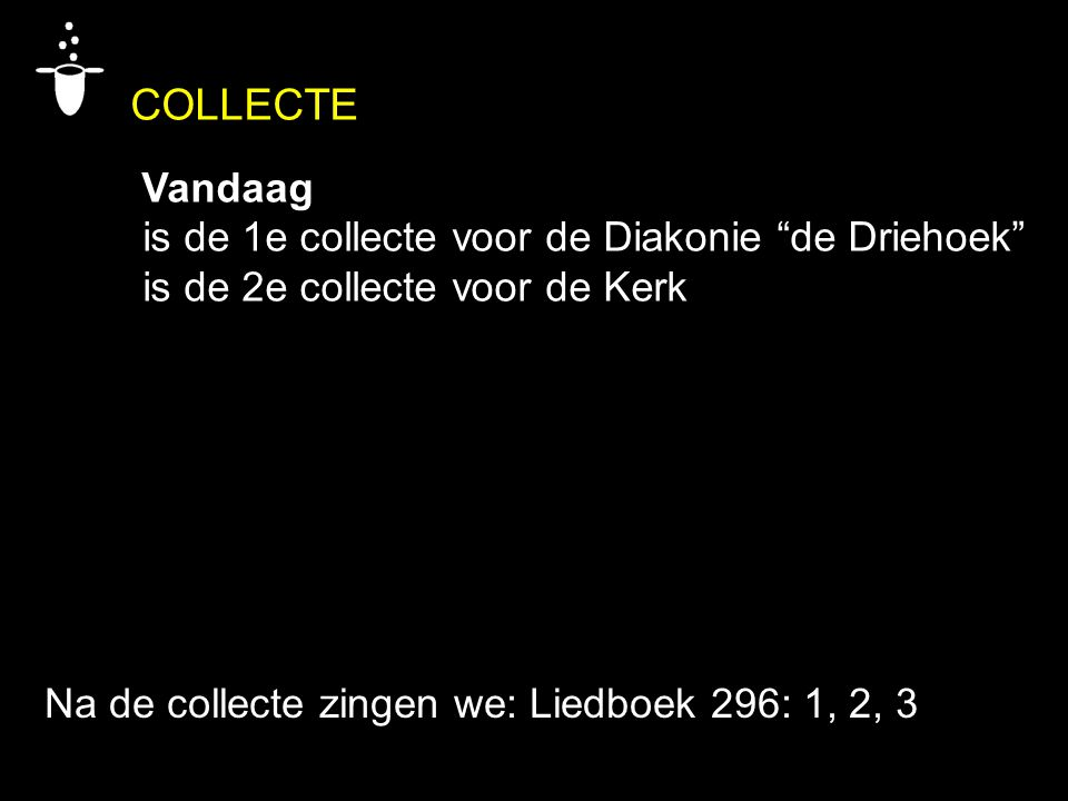 COLLECTE Vandaag is de 1e collecte voor de Diakonie de Driehoek