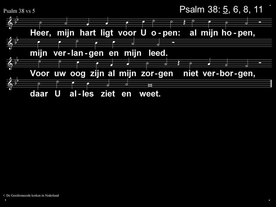 . Psalm 38: 5, 6, 8, 11 . .