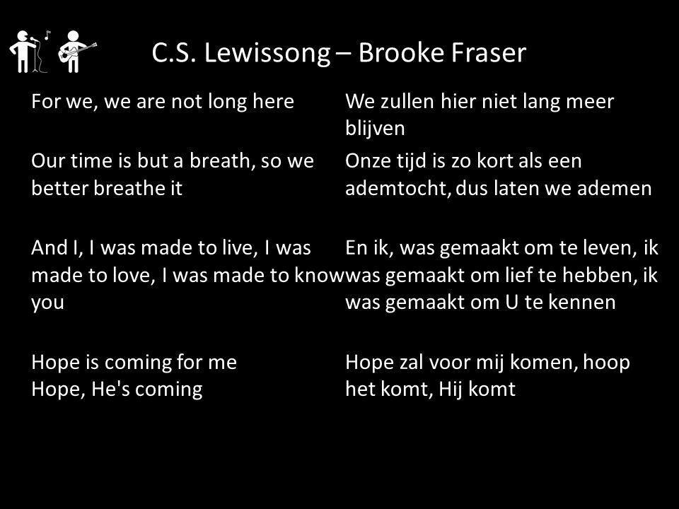 C.S. Lewissong – Brooke Fraser