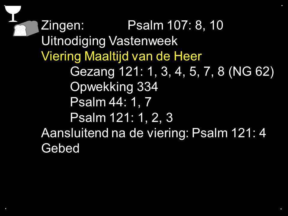 Uitnodiging Vastenweek Viering Maaltijd van de Heer