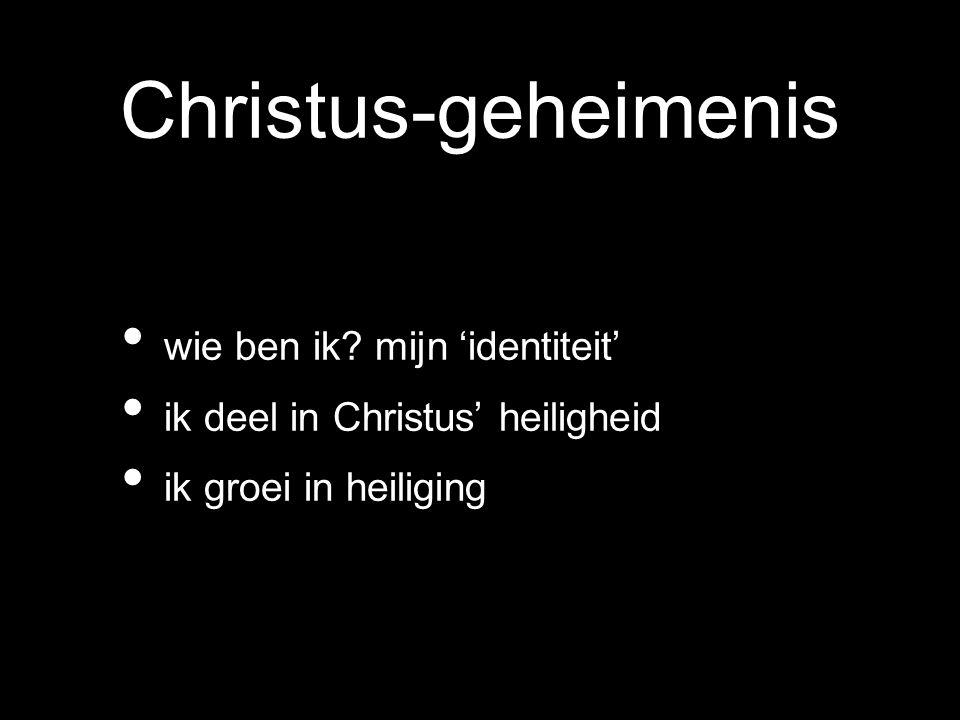 Christus-geheimenis wie ben ik mijn 'identiteit'