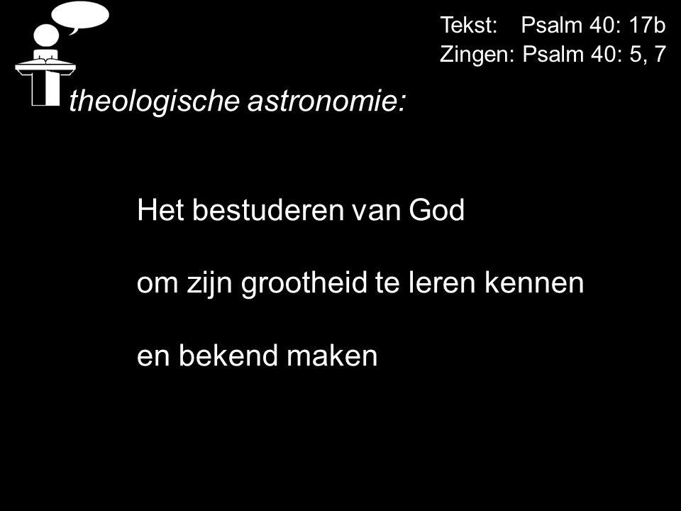 theologische astronomie: