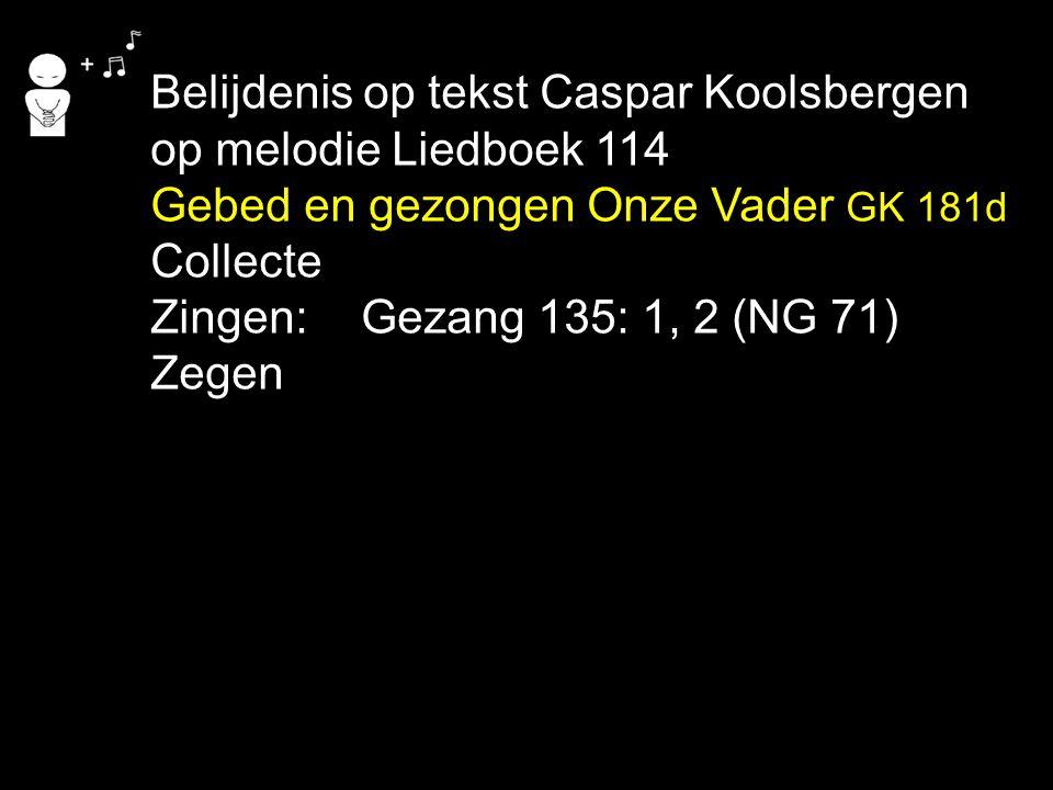 Belijdenis op tekst Caspar Koolsbergen