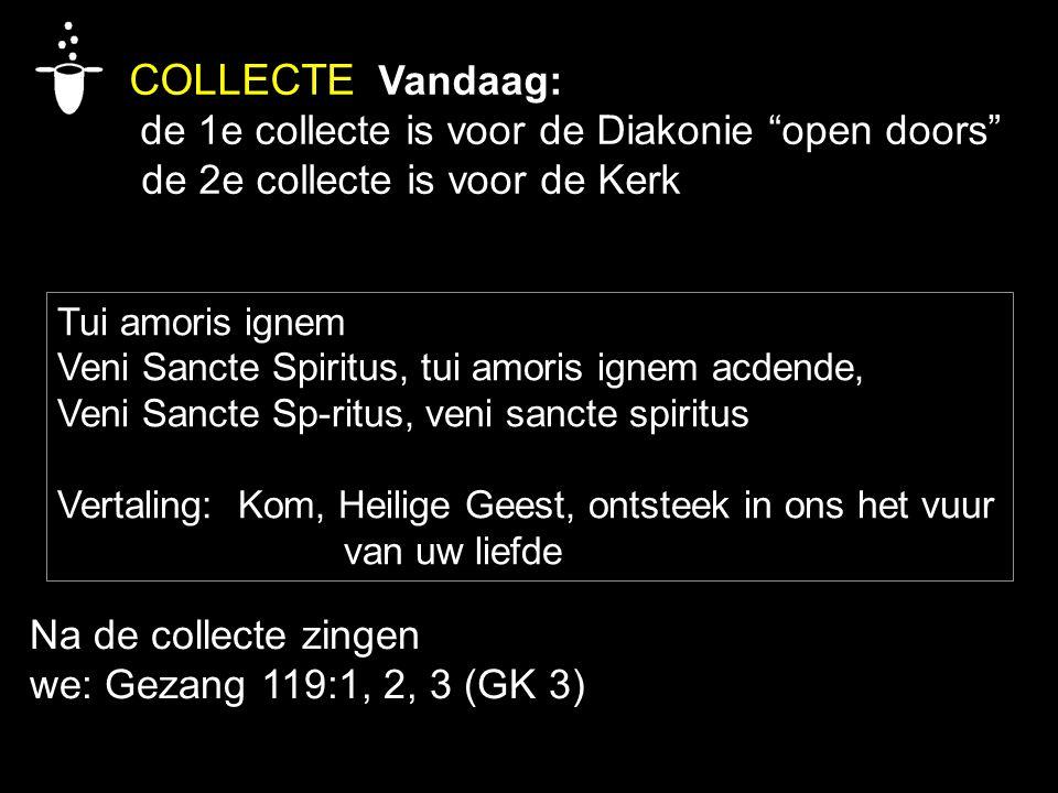 COLLECTE Vandaag: de 1e collecte is voor de Diakonie open doors