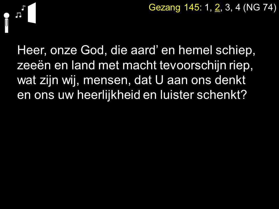 Heer, onze God, die aard' en hemel schiep,