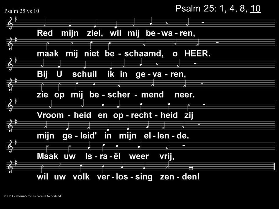 Psalm 25: 1, 4, 8, 10