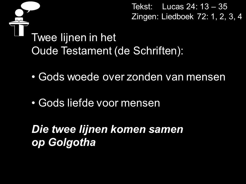Oude Testament (de Schriften): Gods woede over zonden van mensen