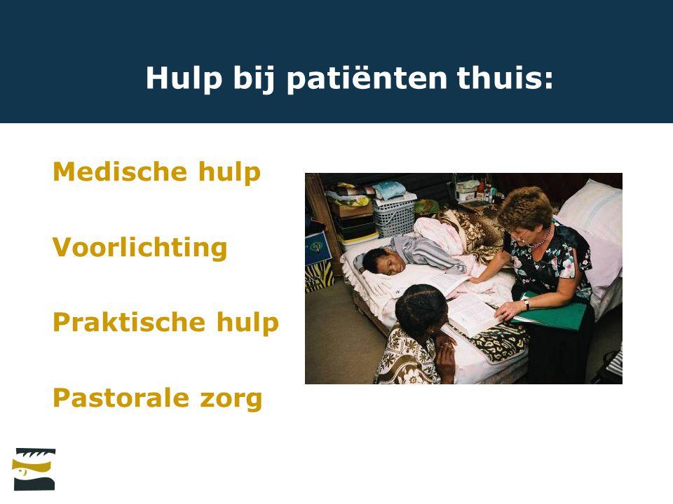 Hulp bij patiënten thuis: