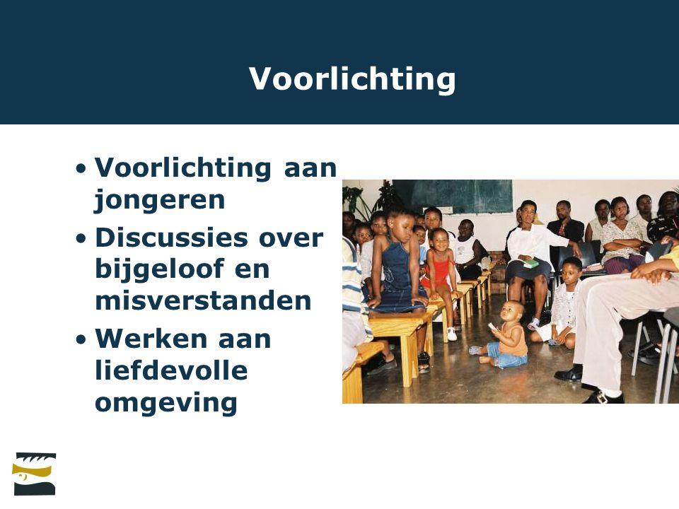 Voorlichting Voorlichting aan jongeren