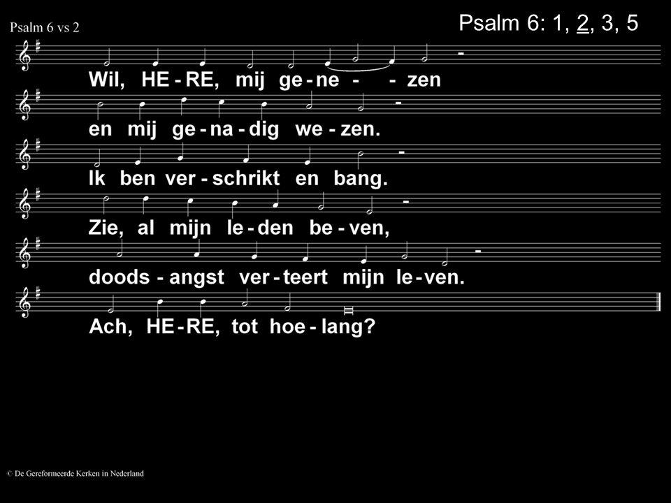 Psalm 6: 1, 2, 3, 5